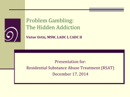 Massachusetts Council on Compulsive Gambling