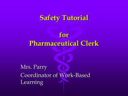Safety Tutorial for Job Title