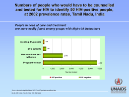 Numbers of people who would have to be counselled and