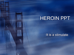 HEROIN PPT MADE BY STANLEY B AND JACOB B