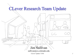 CLever Team Update - University of Colorado Boulder