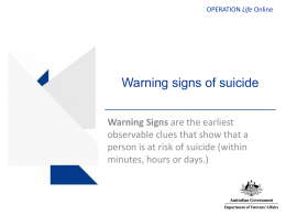 Warning signs of suicide - Department of Veterans' Affairs