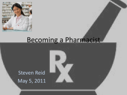 Becoming a Pharmacist - New Hampshire Bureau of Adult