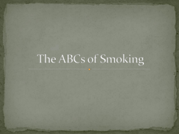 The ABCs of Smoking