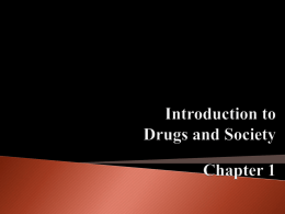 Drug Slides Ch. 3 - The Citadel, The Military College of