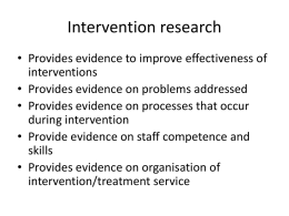 Intervention research - King's College London