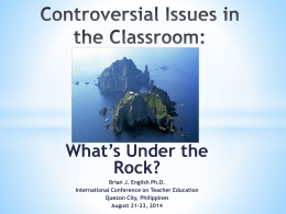 Controversial Issues in the Classroom: