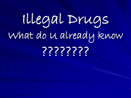 Illegal Drugs What do U already know ????????
