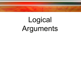 Logical Arguments