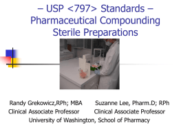 USP  Standards – Pharmaceutical