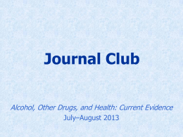 Related Journal Club Presentation