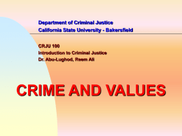 Crime and Values