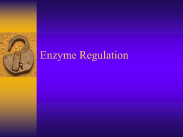 Enzymeregulation