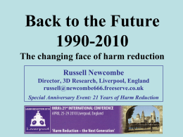 the Future, 1990-2010: the changing face of harm