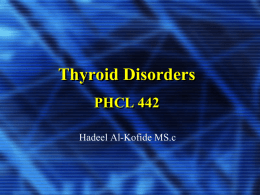 Thyroid disorders Lecture