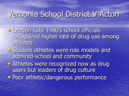 Vernonia School District V Acton