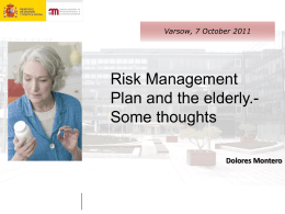 Risk Management Plan and the elderly Dolores Montero iPhVWP