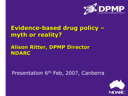 Policy making processes - Families and Friends for Drug Law Reform