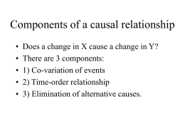 Components of a causal relationship