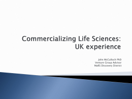 Commercializing Life Sciences