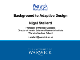 What are adaptive designs?