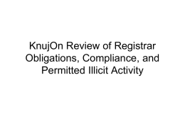 KnujOn Review of Registrar Obligations, Compliance, and