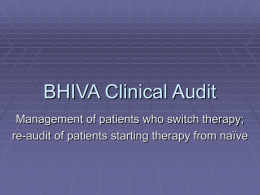 2004-5 audit of switching therapy and re-audit of start therapy