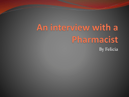 Felicia`s Pharmacist Individual Project