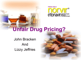 Unfair Drug Pricing