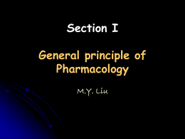 General principle of Pharmacology