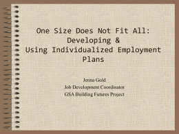 One Size Does Not Fit All: Developing & Using Individualized