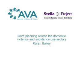 Care planning across the domestic violence and substance misuse