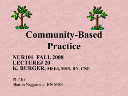 Community-Based Practice - Suffolk County Community College
