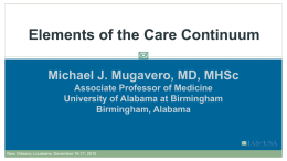 Elements of the Care Continuum - International AIDS Society-USA