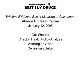 Bringing Evidence-Based Medicine to Consumers
