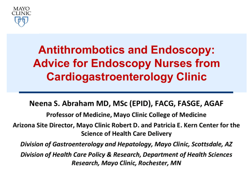 Dr  Abraham`s Antthrombotics Presentation | studyslide com