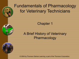 Chapter 1 - A Brief History of Veterinary