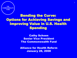 Cathy Schoen - Alliance for Health Reform