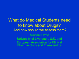 What do Medical Students need to know about