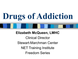 Drugs of Addiction - City Vision University