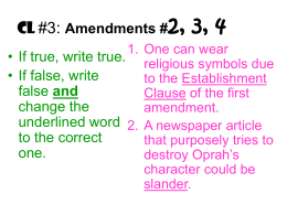 Amendments #2, 3, 4