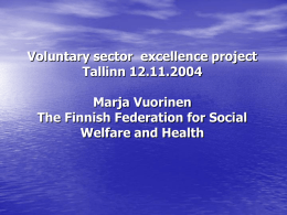 The Finnish Federation for Social Welfare and Health
