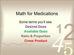 Math for Medications - EdTech-at