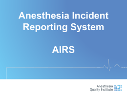 AIRS - Anesthesia Quality Institute