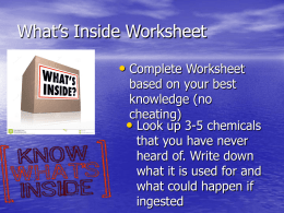 What`s Inside Worksheet