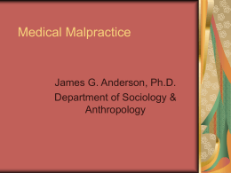 MEDICAL MALPRACTICE Claims/100 MDs
