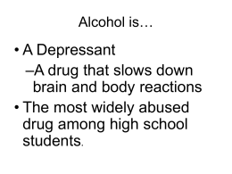 Teens and Alcohol - Columbia High School