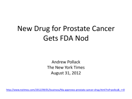 Vujic_New Drug for Prostate Cancer Gets FDA