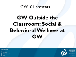 Outside the Classroom Social and Behavioral Wellness