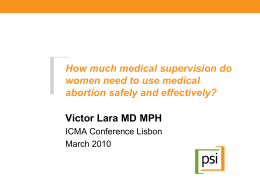 Victor Lara - International Consortium for Medical Abortion